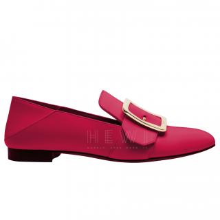 Bally Janelle Red Leather Flat Pumps