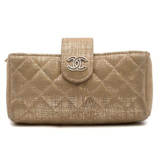 Chanel Gold Coated Coin Purse/Phone Holder