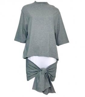 Balenciaga Mock-Neck Tie-Front Sweatshirt
