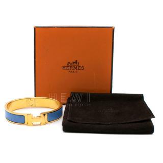 Hermes Clic H Lacquered Bracelet