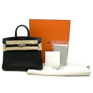 Hermes Black Togo Leather 25cm Birkin Bag