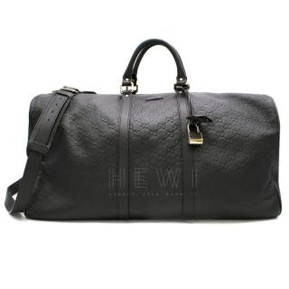 Gucci Dark Brown Guccisima Boston Bag