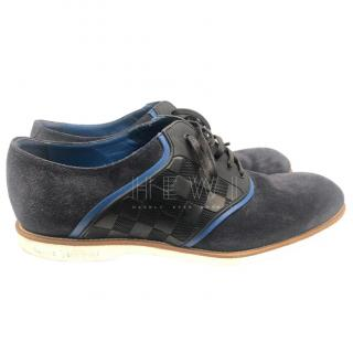 Louis Vuitton Navy & Suede Brogues