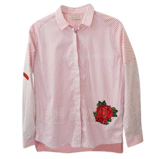 Each x Other Floral Embroidered Striped Blouse
