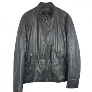 Hugo Boss Selections Lamb Leather Biker jacket