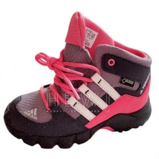 Adidas Originals Boy's Pink Hi-top Trainers