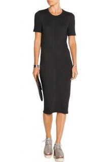 Acne Studios black stretch jersey dress