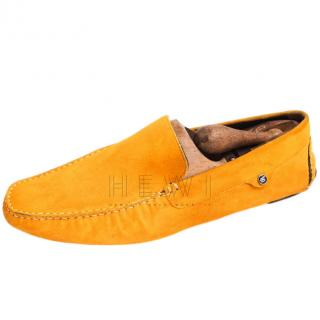 Canali Mean's Yellow Driving Loafers