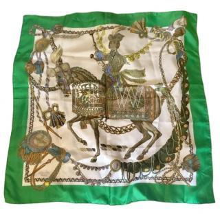 Hermes Green Slk Scarf 90
