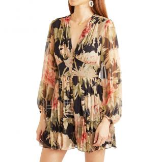 Zimmermann Espionage floral-print silk-crepon playsuit