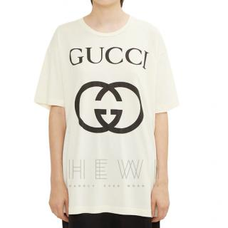 Gucci Cream Logo T-Shirt