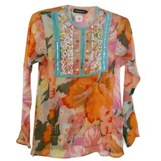 Antik Batik Beaded Printed Tunic