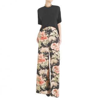 Zimmermann Espionage floral silk-blend wide-leg trousers
