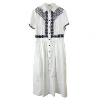 Temperley White Embroidered Shirt Dress