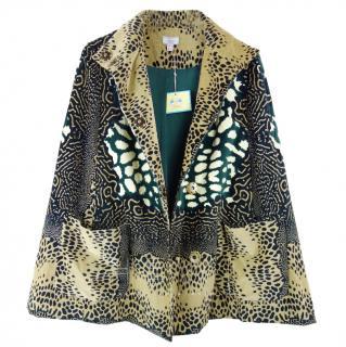 Issa Printed Cape Jacket