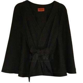 Missoni Black Wool Cape