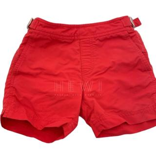 Orlebar Brown Boy's Red Russell Shorts