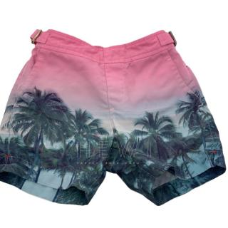 Orlebar Brown Boy's Palm Tree Russell Swim Shorts