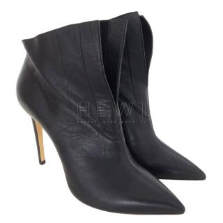 Casadei Leather Foldover Ankle Boots