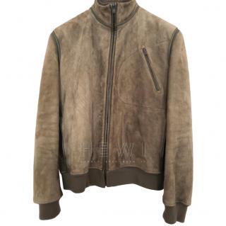 Quai De Valmy suede bomber jacket