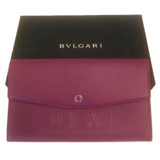 Bvlgari Raspberry Leather Document Holder