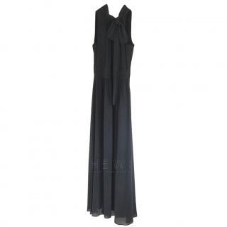 Armani Exchange Halterneck Chiffon Gown