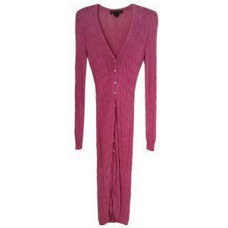 Ralph Lauren Black Label Pink Cardigan