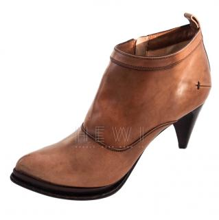 Costume National Cone Heel Ankle Boots
