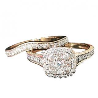 Bespoke 14ct Gold Diamond Bridal Ring Set