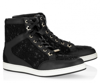 Jimmy Choo Lace & Leather Tokyo Trainers
