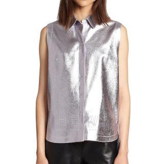 3.1 Phillip Lim Metallic Sleeveless Shirt