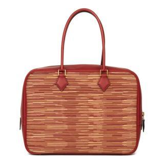 Hermes Vintage Rouge Swift Leather 32cm Plume Bag