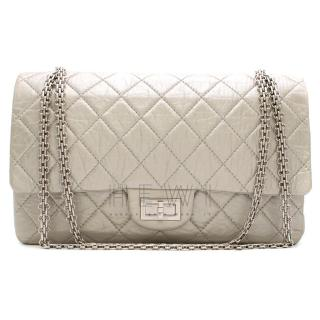 Chanel Silver Aged Calfskin Reissue 2.55 Flap Bag