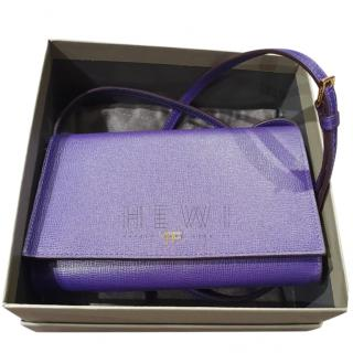 Tom Ford Purple Leather Crossbody Bag