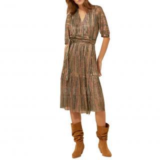 BA&SH Star Foil Wrap Dress