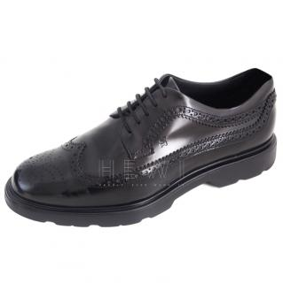 Hogan Black Leather Brogues