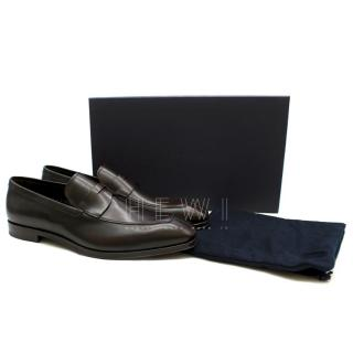 Prada Men's Brown Leather Loafers