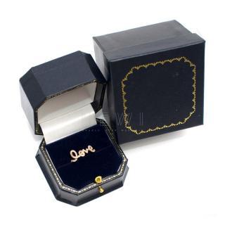Bespoke 14k Gold Diamond Love Ring