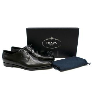 Prada Men's Black Leather Lace-Up Brogues