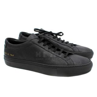 Common projects Black Perforated Leather Sneakers