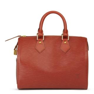 Louis Vuitton Vintage Red Epi Leather Speedy 25