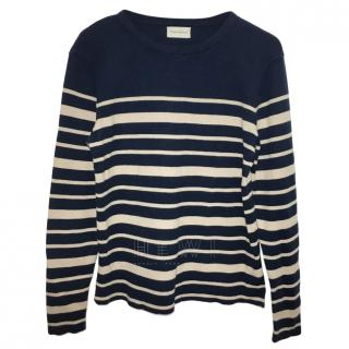 Oliver Spencer Navy Striped Jumper
