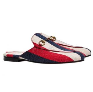 Gucci Princetown Sylvie Canvas Slippers