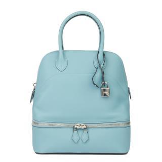 Hermes Swift Leather Blue Atoll Bolide Secret Bag