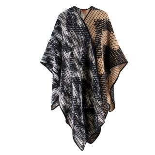 Missioni Wool Blend Two-Tone Cape