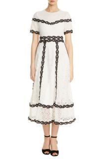 Maje Rowan Bicolore Lace Dress