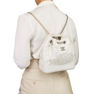 Chanel Tweed, Leather & PVC Gabrielle Backpack
