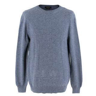 Ermenegildo Zegna Marl Blue Cashmere Sweater