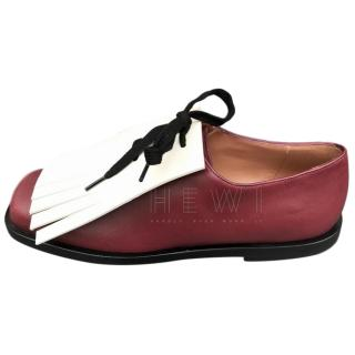 Marni Ruby & Alabaster Lace-Up Shoes