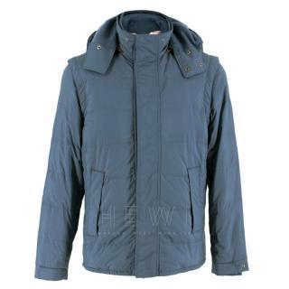 Loro Piana Blue Storm System Goose Down Blue Jacket